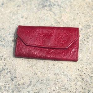 Vintage red leather key holder wallet